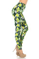 Wholesale Buttery Soft Luck of the Irish Limes Leggings