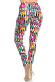 Wholesale Buttery Soft Stripes Love and Kisses Leggings