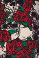 Wholesale Buttery Soft Skull and Red Roses Plus Size Capris