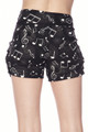 Wholesale Buttery Soft Musical Note Geometry Harem Shorts