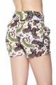 Wholesale Buttery Soft Dainty Ivory Butterfly Harem Shorts