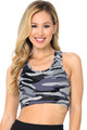 Wholesale Buttery Soft Charcoal Camouflage Women's Bra Top