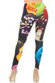 Back side image of Wholesale Double Brushed Colorful Cupcake Leggings