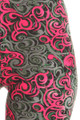 Close-up fabric image of  Wholesale Buttery Soft Fuchsia Tangled Swirl Leggings