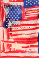 Close up of Wholesale Buttery Soft Watercolor USA Flag Plus Size Leggings