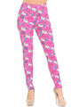 Wholesale Buttery Soft Pink Puppy Dogs Leggings