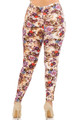 Wholesale Buttery Soft Ginger Summer Floral Plus Size Leggings