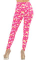 Wholesale Buttery Soft Pink Daisy Leggings