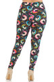 Wholesale Buttery Soft Groovy Hip Unicorn Extra Plus Size Leggings - 3X-5X