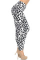 Wholesale Buttery Soft Ivory Spotted Leopard Leggings