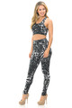 Wholesale Buttery Soft Black and White Siberian Tiger Leggings and Bra Set