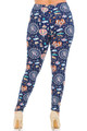 Wholesale Buttery Soft Vintage Carnival Extra Plus Size Leggings - 3X-5X