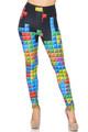 Wholesale Creamy Soft Tetris Extra Small Leggings - USA Fashion™