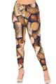 Wholesale Creamy Soft Wine Cork Plus Size Leggings - USA Fashion™