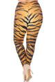 Wholesale Creamy Soft Tiger Print Plus Size Leggings - USA Fashion™