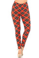 Wholesale Buttery Soft Classic Red Plaid Leggings
