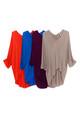 Wholesale V-Neck 3/4 Sleeve High-Low Hem Rayon Plus Size Top