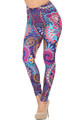 Wholesale Creamy Soft Mandala Flowers Leggings - USA Fashion™
