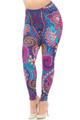 Wholesale Creamy Soft Mandala Flowers Plus Size Leggings - USA Fashion™