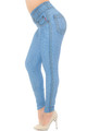 Wholesale Creamy Soft Beautiful Blue Jean Plus Size Leggings - USA Fashion™
