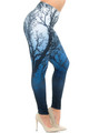 Wholesale Creamy Soft Ombre Forest Extra Plus Size Leggings - 3X-5X - USA Fashion™