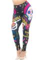 Wholesale Creamy Soft Day of the Dead Plus Size Leggings - USA Fashion™
