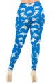 Wholesale Creamy Soft Shark Plus Size Leggings - USA Fashion™