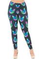Wholesale Creamy Soft Neon Cats Plus Size Leggings - USA Fashion™