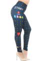 Wholesale Creamy Soft Pacman Begins Plus Size Leggings - USA Fashion™
