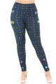 Wholesale Creamy Soft Pacman Begins Extra Plus Size Leggings - 3X-5X - USA Fashion™