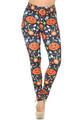 Wholesale Creamy Soft Pumpkins and Halloween Candy Leggings - USA Fashion™