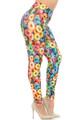 Wholesale Creamy Soft Colorful Cereal Loops Plus Size Leggings - USA Fashion™