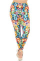 Wholesale Creamy Soft Colorful Cereal Loops Extra Plus Size Leggings - 3X-5X - USA Fashion™