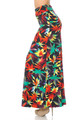 Wholesale Buttery Soft Rainbow Marijuana Maxi Skirt