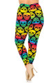 Wholesale Buttery Soft Rainbow Skull Plus Size Leggings