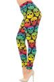 Wholesale Wholesale Buttery Soft Rainbow Skull Extra Plus Size Leggings - 3X-5X Soft Rainbow Skull Plus Size Leggings