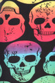 Close up fabric image of Wholesale Buttery Soft Rainbow Skull Extra Plus Size Leggings - 3X-5X