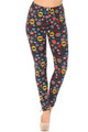 Wholesale Buttery Soft Colorful Hanging Christmas Ornaments Leggings