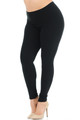 Wholesale Buttery Soft Basic Solid Plus Size Leggings - New Mix