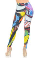 Wholesale Double Brushed Graphic Picasso Paint Strokes Leggings