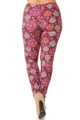 Wholesale Buttery Soft Festive Snowflake Ornaments Extra Plus Size Leggings - 3X-5X