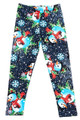 Wholesale Buttery Soft Frosty Blue Snowman Christmas Kids Leggings