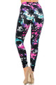 Wholesale Buttery Soft Aurora Borealis Extra Plus Size Leggings - 3X-5X