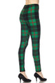 Wholesale Buttery Soft Green Plaid Extra Plus Size Leggings - 3X-5X