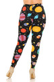 Wholesale Buttery Soft Planets in Space Plus Size Leggings