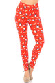 Wholesale Buttery Soft Ruby Red Penguins Mistletoe and Snowflake Leggings