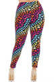 Wholesale Buttery Soft Flowing Rainbow USA Stars Plus Size Leggings