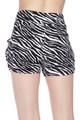 Wholesale Buttery Soft Zebra Print Harem Shorts