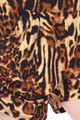 Wholesale Buttery Soft Predator Leopard Plus Size Harem Shorts