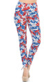 Wholesale Buttery Soft All Over USA Leggings